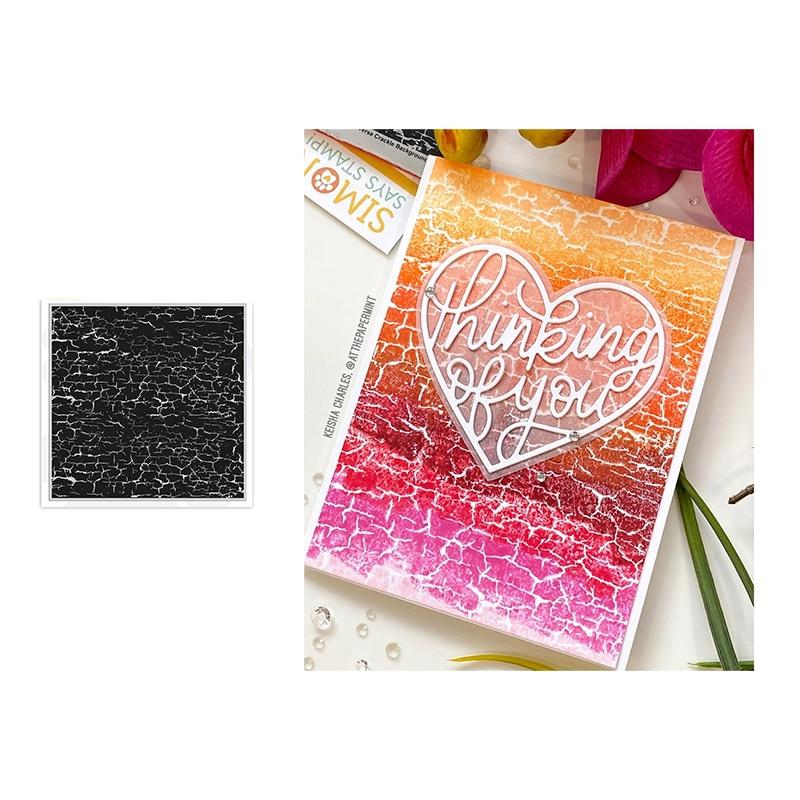 JC mur fissure fond caoutchouc timbres pour Scrapbooking Silicone joints artisanat pochoir Album carte faire décoration feuille 2020 nouveau