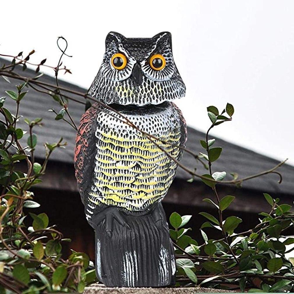 Realistic Rotating Head Owl Bird Repellent Bird Pest Control Scarecrow Garden Courtyard Decoration D