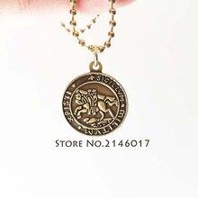 Masonic Free Masons Badge Charm with Chains Knights Templar Seal Crusaders Solomons Temple Freemason Necklace