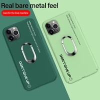ultra thin matte pc phone case for iphone 13 11 pro max se xsmax xr xs x 8 7 6 plus magnetic protection cover