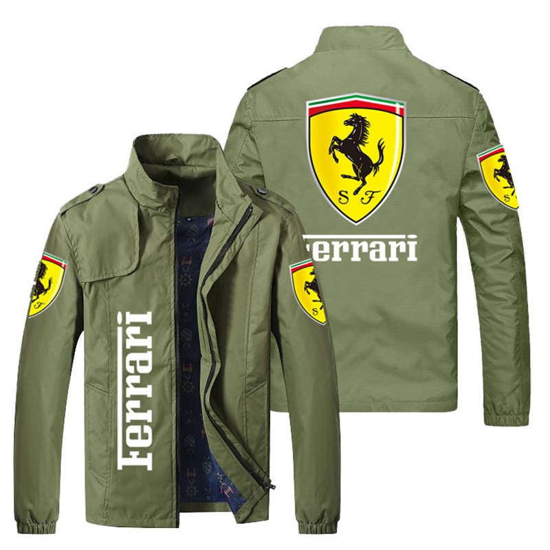 2021 hot-selling men's spring and autumn new bomber jacket men's and women's casual windbreaker printed zipper stand-up collar t