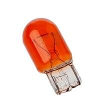 10pcs T20 W21/5W 3800K Glass  Turn Signal Stop Brake Tail Light Bulb Amber Light 7443 Halogen Bulbs Indicators Lights Yellow