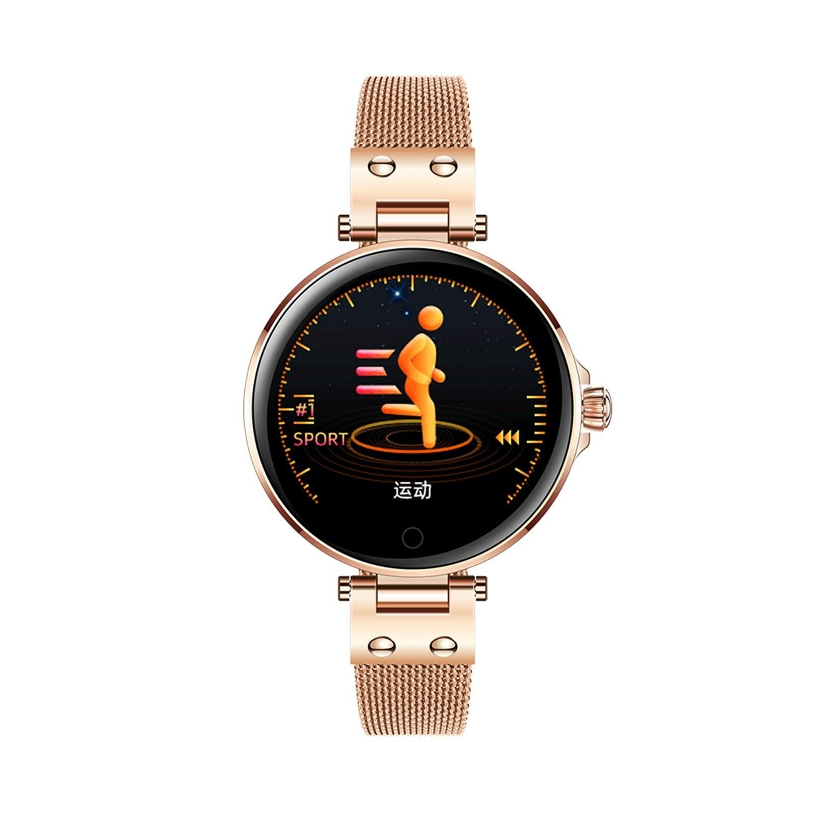 Temperatura do Corpo Nssd Senhoras Relógio Inteligente Freqüência Cardíaca Pressão Arterial Sono Monitoramento Moda Relógios Multi-função Pulseira