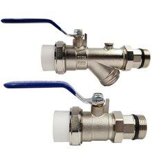 Chauffage par le sol sous-collecteur filtre manchon vanne PPR entrée et retour eau robinet à tournant sphérique pur cuivre sous-collecteur manomètre