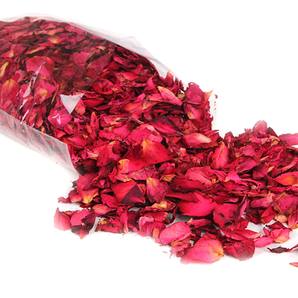 New Romantic 50/100g Natural Dried Rose Petals Bath Dry Flower Petal Spa Whitening Shower Aromatherapy Bathing Supply