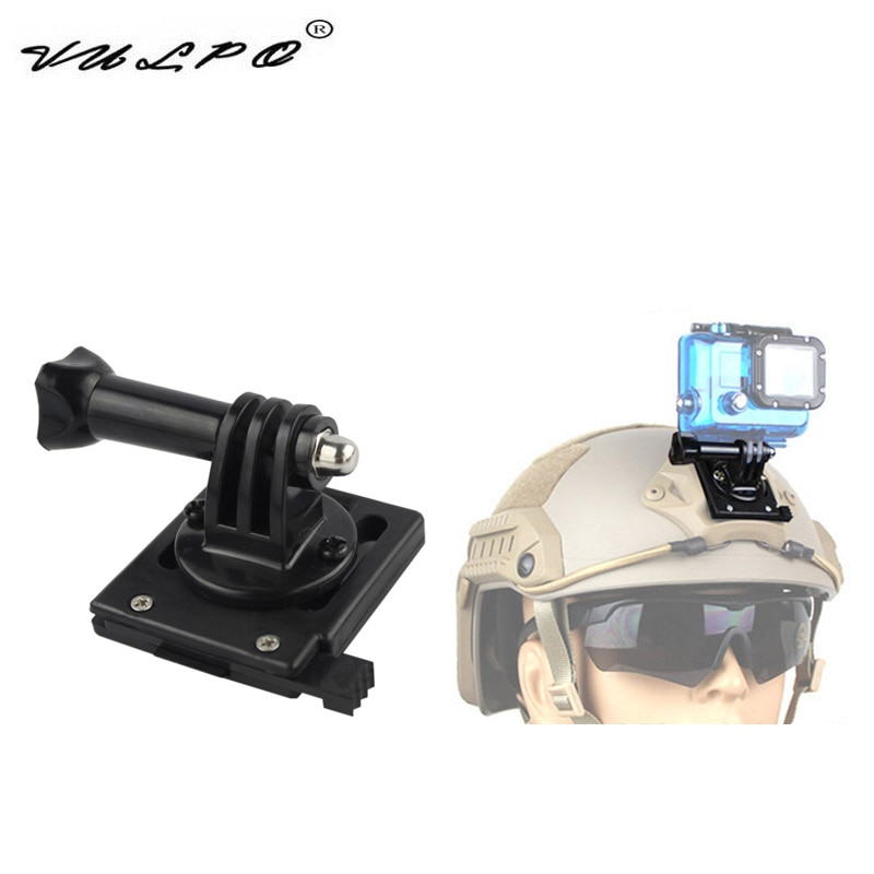 VULPO FAST/MICH/NVG/M88 Tactical Helmet Base Adapter Fixed Mount For Gopro HD Hero 1- 5 Action Camera 90 Degree Adjustable