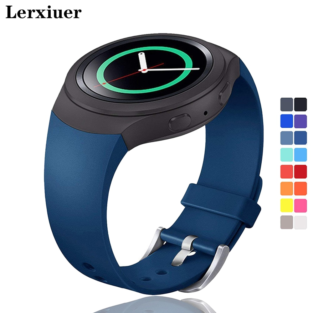 Lerxiuer Sport Strap For Samsung Galaxy Gear S2 band R720 R730 Smart Watch Band Silicone wrist bracelet correa watchband belt