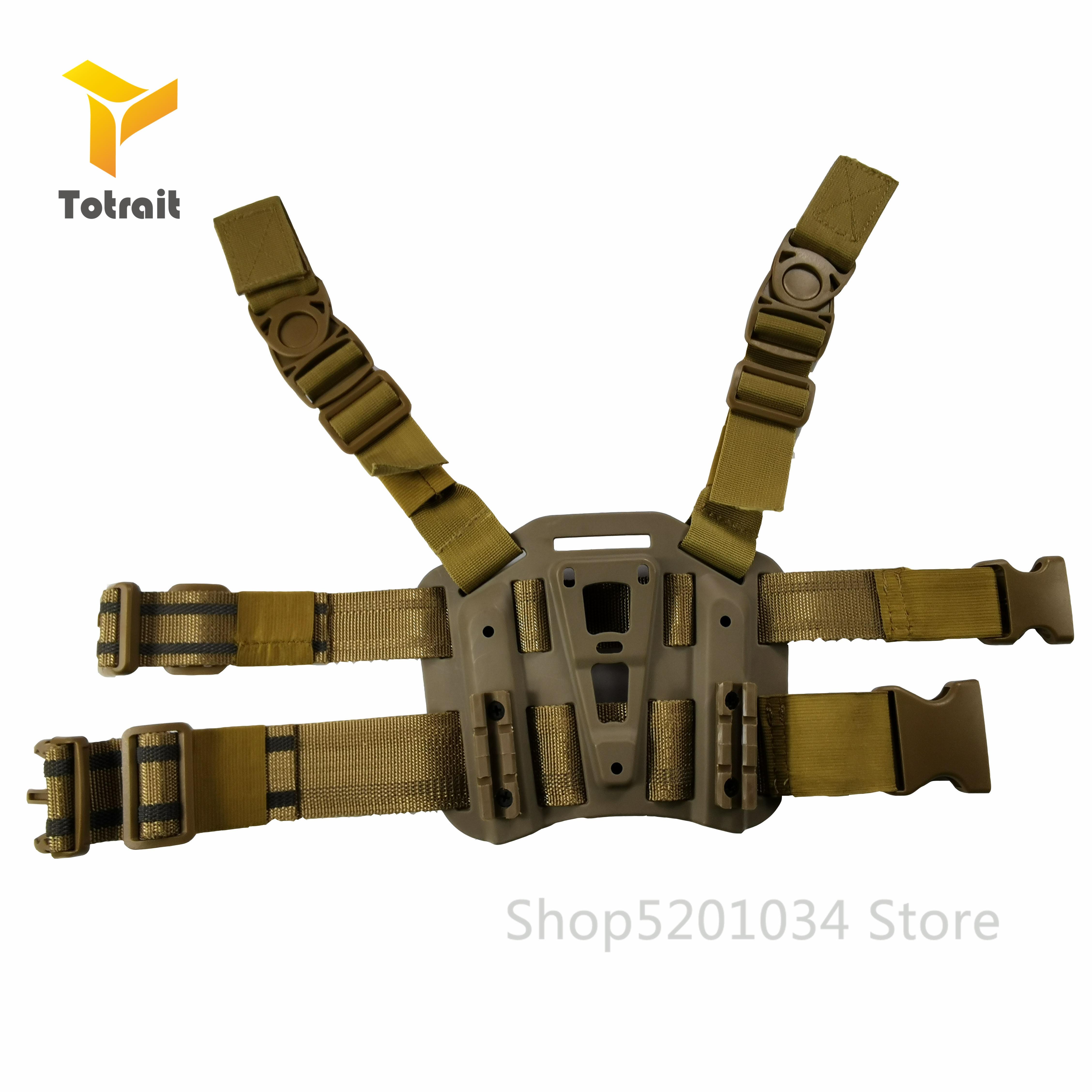 Pistola militar accesorios pierna pistolera plataforma Paddle para glock 17 HK USP P226 Compact Beratta M9 Arisoft tiro muslo pistolera