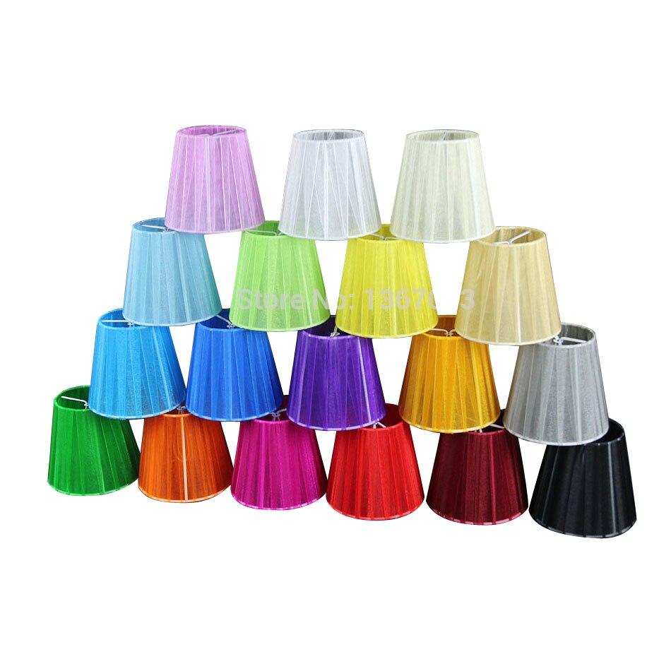 Pantallas de lámpara colgante de encaje modernas de 12cm de diámetro, lámpara de pared con pantalla blanca, negra, rosa, púrpura, azul, amarillo, verde y rojo, Clip