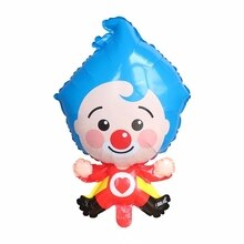 1pc Cartoon Clown 45x70cm Plim Plip Clown Foil Balloons Birthday Party Decoration Supplie Baby Showe