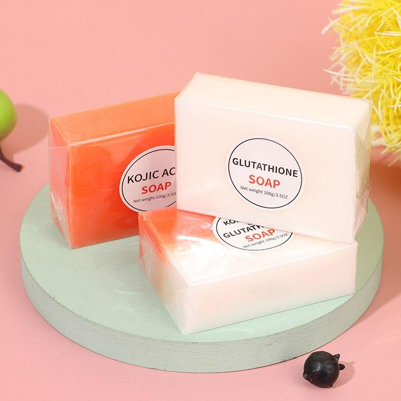 100g Kojic Acid Soap Handmade Soaps Glutathione Whitening Soap Facial Soap Cleanser Bath Soap Hand Wash Soap Antibacterial nicole soaps beveler planer wood box for handmade soap making tools