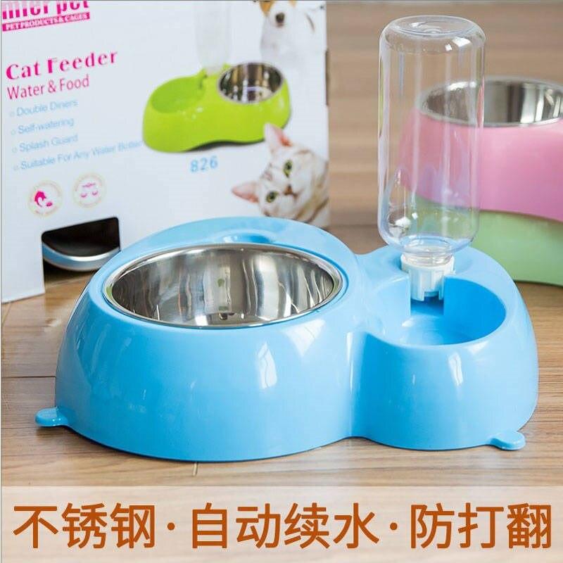 Alimentador De viaje De plástico para gatos, cuenco doble para Comida, productos...