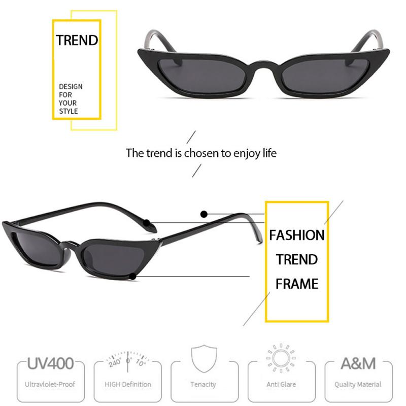 2020 Fashion Uv400 Sunglasses Woman Man Brand Designer Vintage Retro Triangular Cat Eye Glasses For