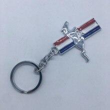 Cheval en métal 3D emblème Badge porte-clés porte-clés porte-clés anneau pour Mustang GT voiture-style Chaveiro