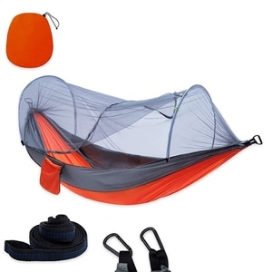 1-2 Portable Person Camping Outdoor Hammock with Mosquito Net Swing Sleeping Lightweight Travel Bed for Hiking