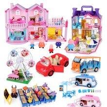 Peppa pig George cochon dinde famille Pack papa maman figurine originale Pelucia Anime jouets pour enfants enfants cadeau