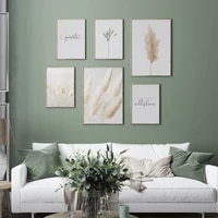 plants natural pampas grass landscape poster and print love wall art canvas painting yourself quote living room decor