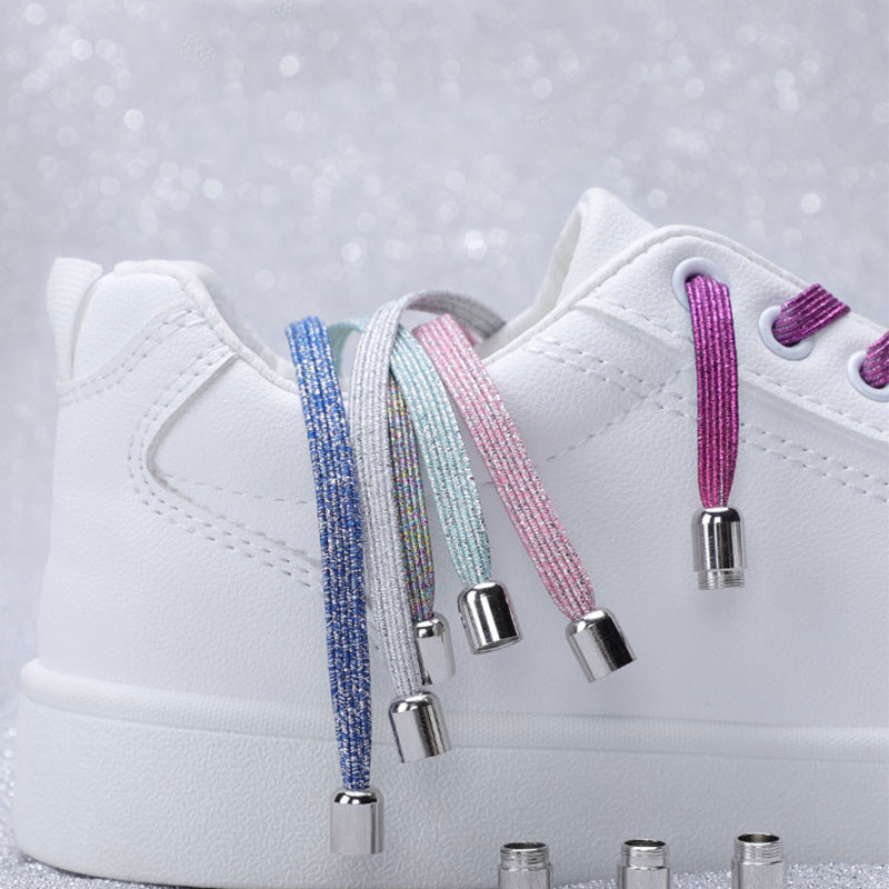 Lazy Shoelaces Flat Shoe Tie Colorful Fashion 1 Pair Accessories Elastic Locking No Shoelace Quick Sneakers