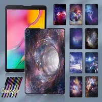 space pattern new cover for samsung galaxy tab a 8 0 2019 t290 t295 plastic durable slim tablet shell case free stylus
