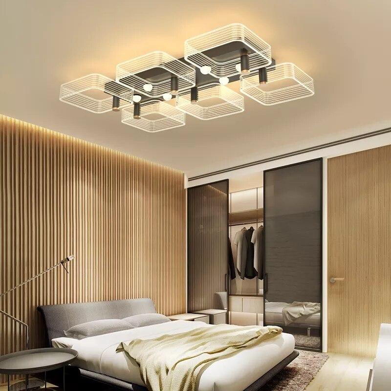 led luz de teto moderno lustre lampada do teto para sala jantar quarto luxuoso interior