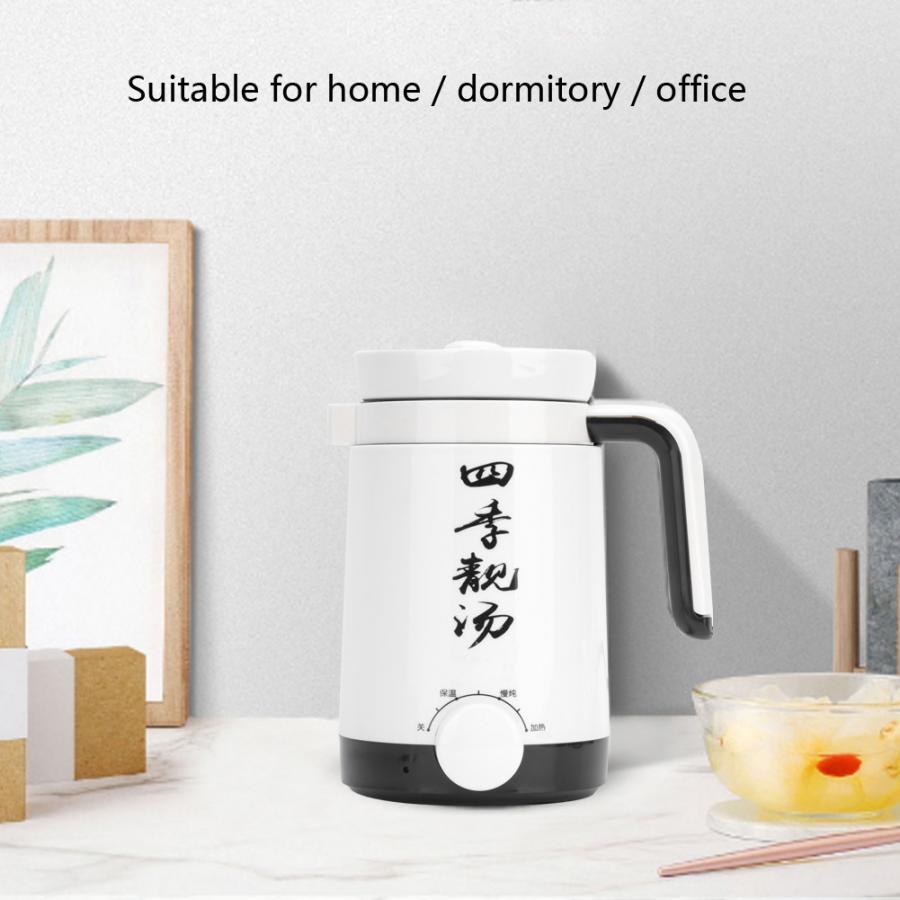 900w 600ml copo de aquecimento elétrico café chá leite fogão lento caneca automática stewing cupfor escritório em casa