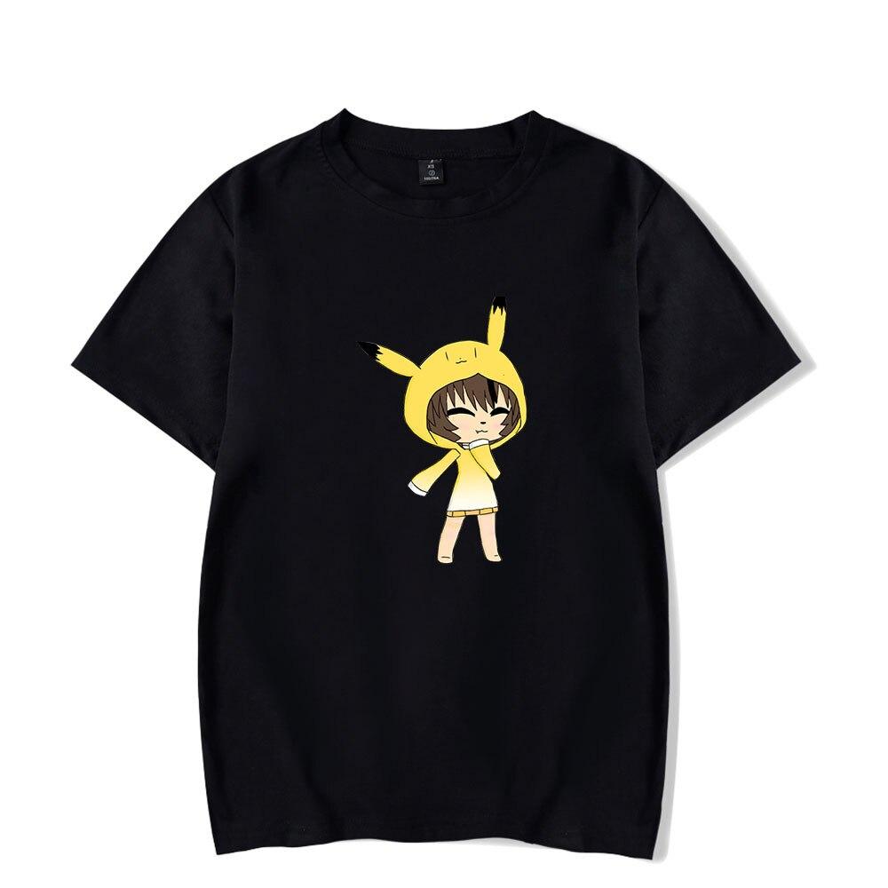 Jeu chaud Gacha vie T-shirt décontracté ample Cosplay à manches courtes T-shirt adultes hommes femmes été t-shirts 2D impression T-shirt haut