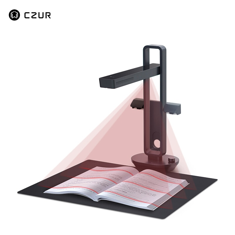 CZUR Aura X Pro Advanced Book Document Scanner 14MP Camera A3 Size with Smart OCR Led Table Desk Lamp for Office Home Family