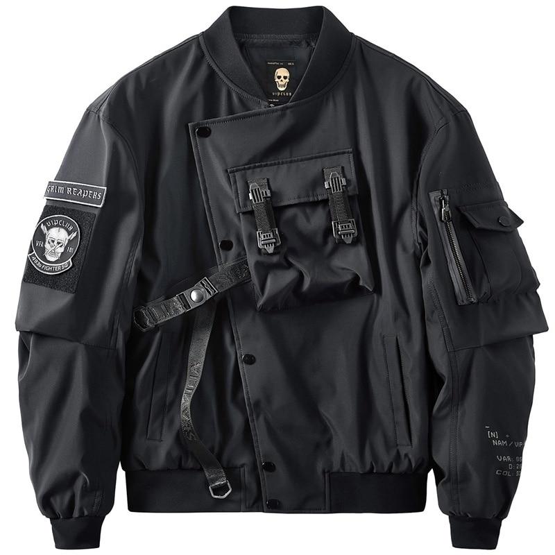 autumn MA1 pilot jacket men's large functional coat men's tooling Korean trendy baseball suit