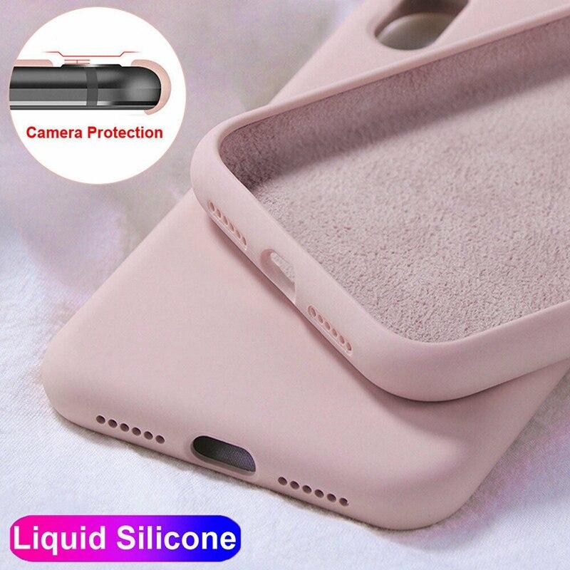 Candy Solid Color Liquid Mobile Case For Etui Xiaomi Redmi 7A 8A Note 7 8 Pro K20 CC9E Soft Silicone Back Cover Coque