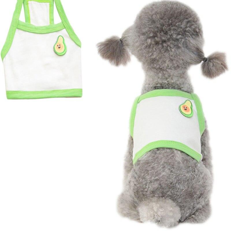 4 cores de algodão camisola do hoodie do cão padrão fruta exposto umbigo colete camisa verão sem mangas camiseta para chihuahua cães pequenos