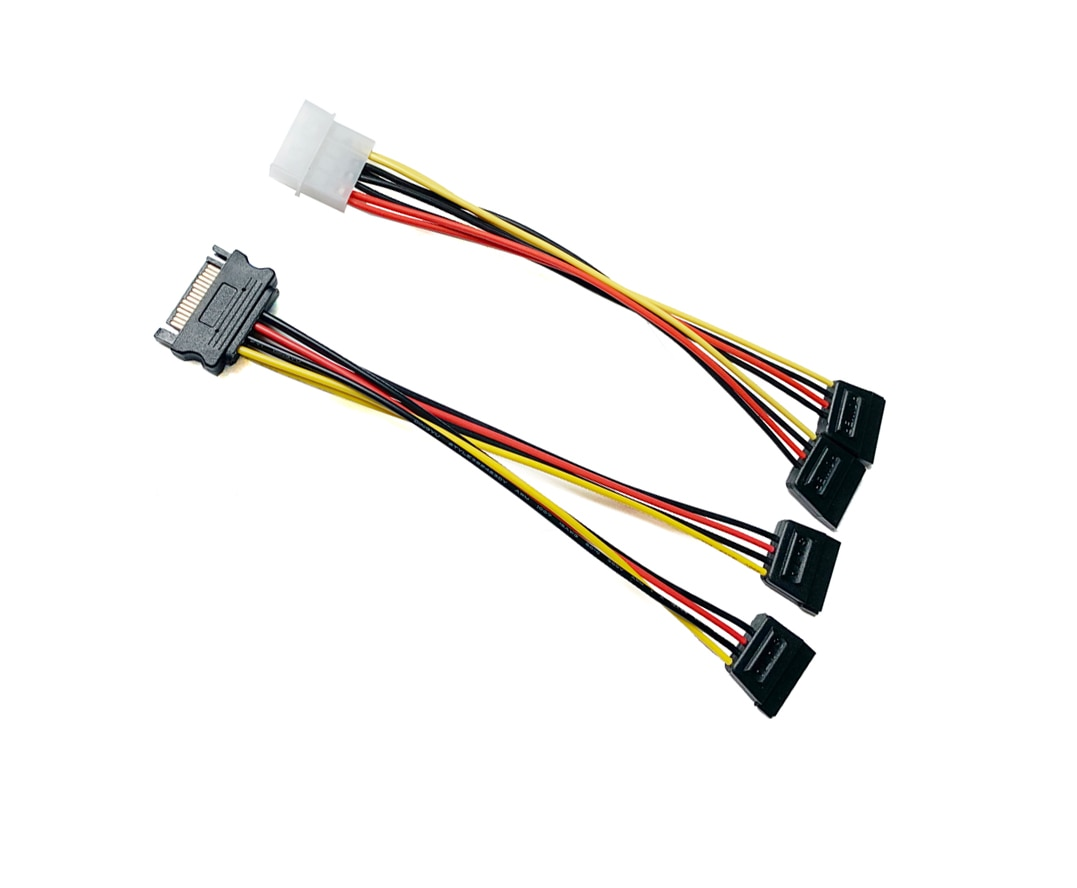 sata15pin male serial to 15pin ide molex female 4pin sata female power adapter cable Sata15Pin Power Adapter Cable, SATA 15 Pin Male to SATA 15Pin Female Power Y-Splitter Extension Cable