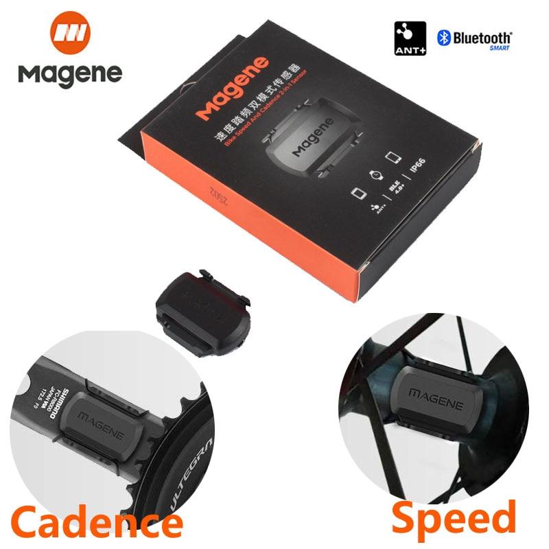 Magene velocímetro gemini210, sensor de velocidade cadência ant + bluetooth para strava garmin bryton, computador para bicicleta