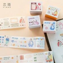 10 pcs/lot Cartoon Washi Tape DIY Japanese Paper Workplace series Decorative Adhesive Tape/Masking Tape Stickers