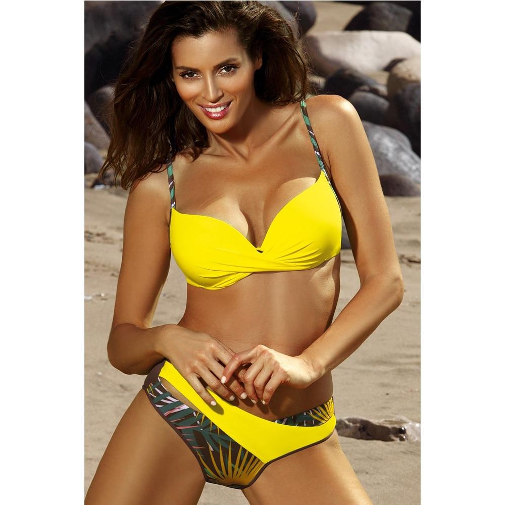Sexy Bikini Push Up traje de baño para mujer 2020 Floral Biquini cintura baja traje de baño de talla grande Bikinis Mujer verano ropa de playa