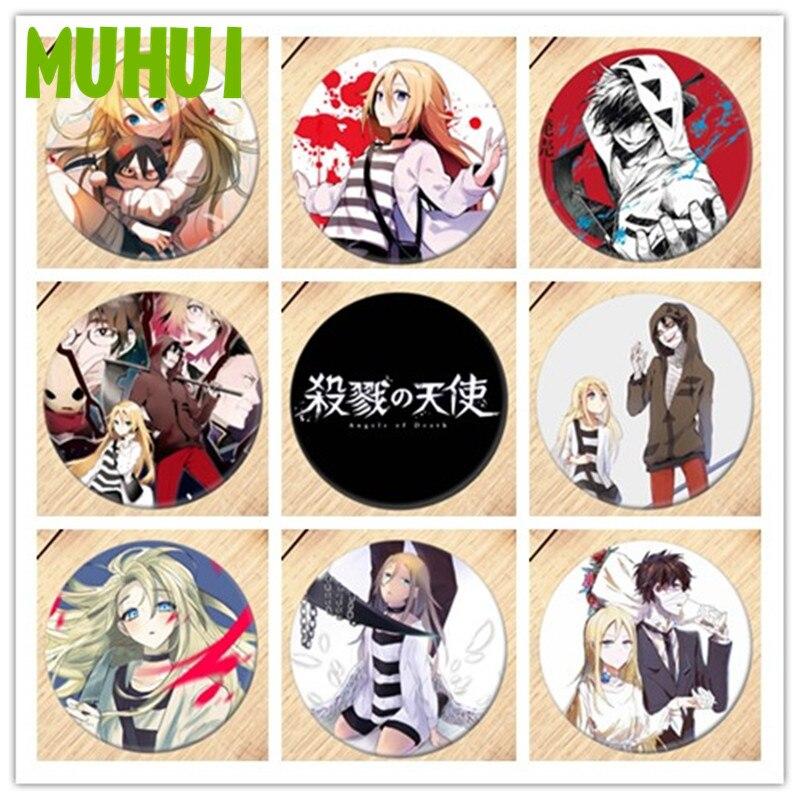Envío Gratis Anime ángeles de la muerte broche insignias para ropa mochila decoración regalo para niños B019
