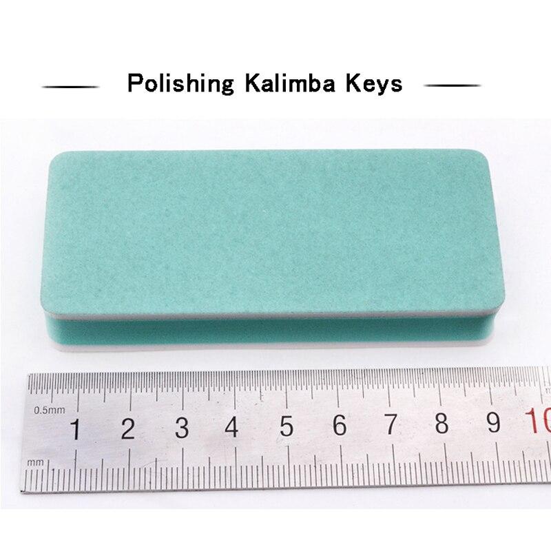 2pc Kalimba Tastiera Lucidatura Blocco Double Sided Spugna di Metallo Smalto Strisce One-off Pollice Pianoforti di manutenzione Accessori