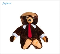 joylove 60cm funny donald trump plush toys stuffed trumpy bear cool usa president trumpy bear with flag cloak collection doll