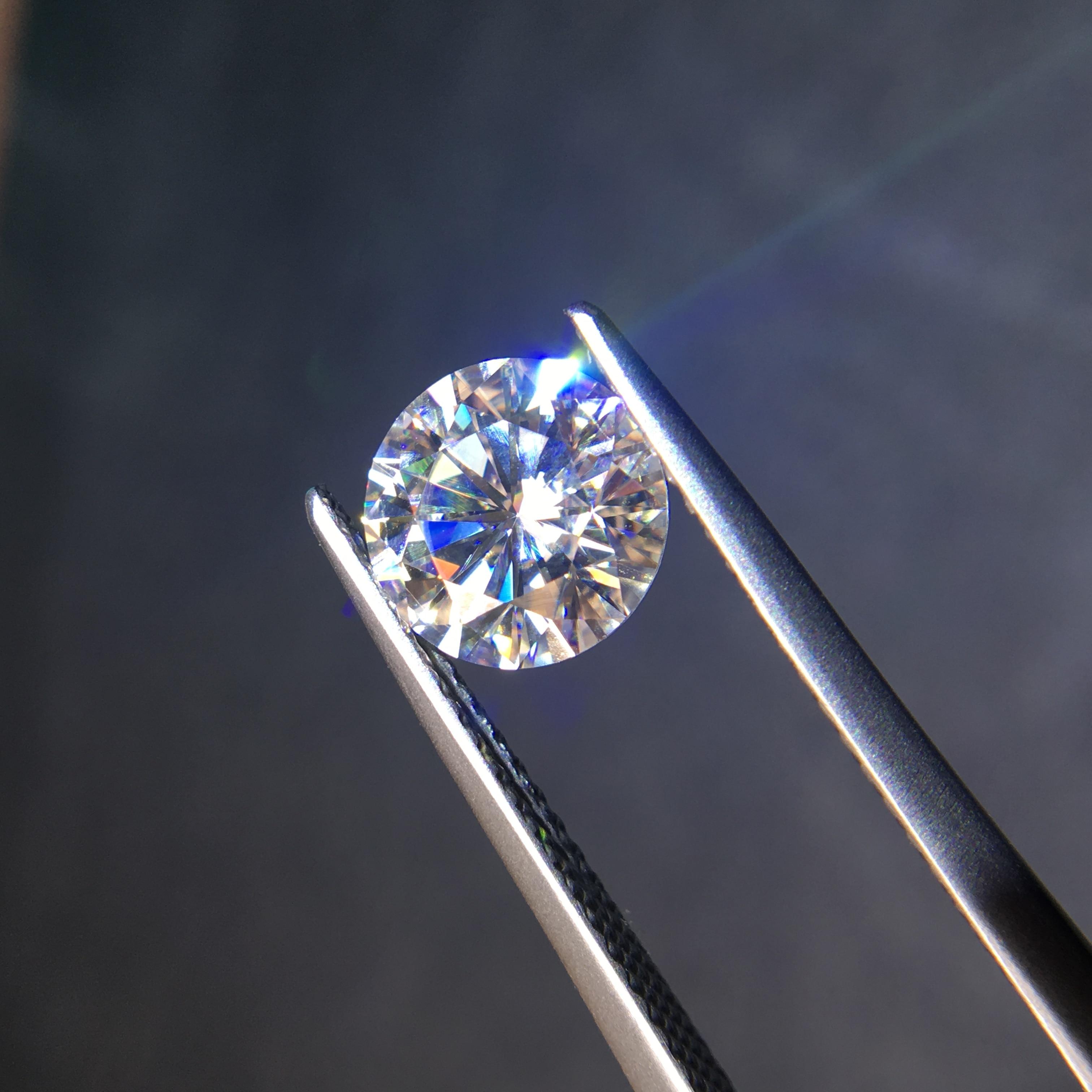 Runde Brillant Cut Moissanite 8mm GH Farbe 2ct Lose perlen Moissanite schmuck armband Ring DIY material Hohe qualität