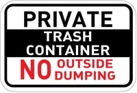 private trash container no outside dumping osha label vinyl decal sticker kit osha safety label compliance signs 8