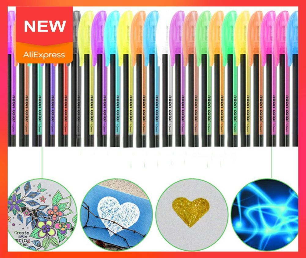 Самый потрясающий 48-цветный хайлайтер + металлическая ручка-фонарик cкомбинация + пастельный набор ручек + цветная ручка Z2Q1