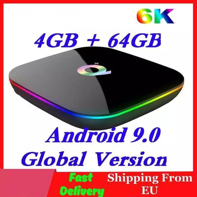 H6 6K Smart Tv Box Android 9.0 4Gb Ram 64Gb Rom Quadcore Play Store Youtube Wifi décodeur 2G16G lecteur multimédia Q Plus