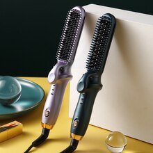 2 in 1 New Lazy Hair Straightener Adjustable Curling Rod Straight Hair and Curly hair Straightening