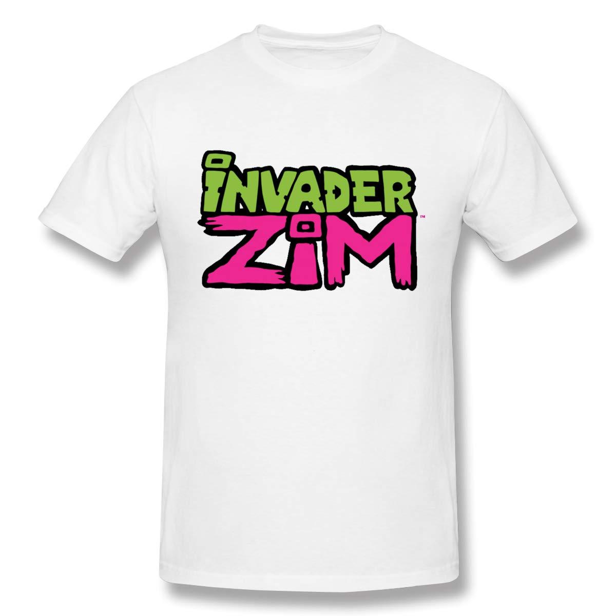 Lerzincser, camiseta de hombre, suave, Invader, Zim Gir Doom, estampado con cuello redondo, camisetas de manga corta, transpirable