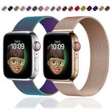 Strap For Apple watch series 6 5 4 3 se milanese loop wristband Smartwatch bracelet correa Apple wat