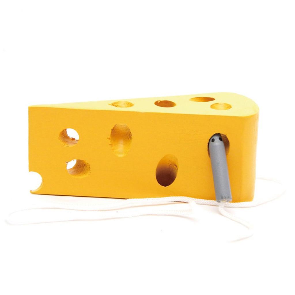 Juego de la serie de educación infantil para niños pequeños juego mental para niños hogar gusano grande comiendo queso enhebrado juego interactivo para Padres