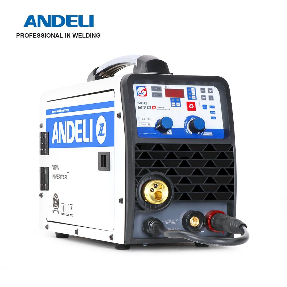 ANDELI MIG-270P نبض آلة لحام الألومنيوم MIG/رفع TIG/MMA متعددة الوظائف MIG لحام آلة لحام للعاكس آلة لحام