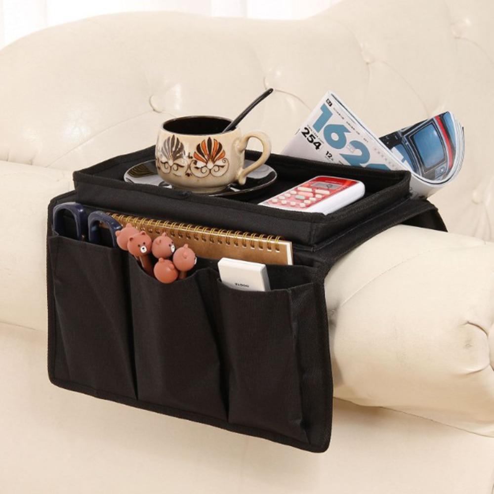 Sofá braço organizador sofá poltrona pendurado saco de armazenamento para controle remoto organizador casa acessórios ferramentas saco de armazenamento