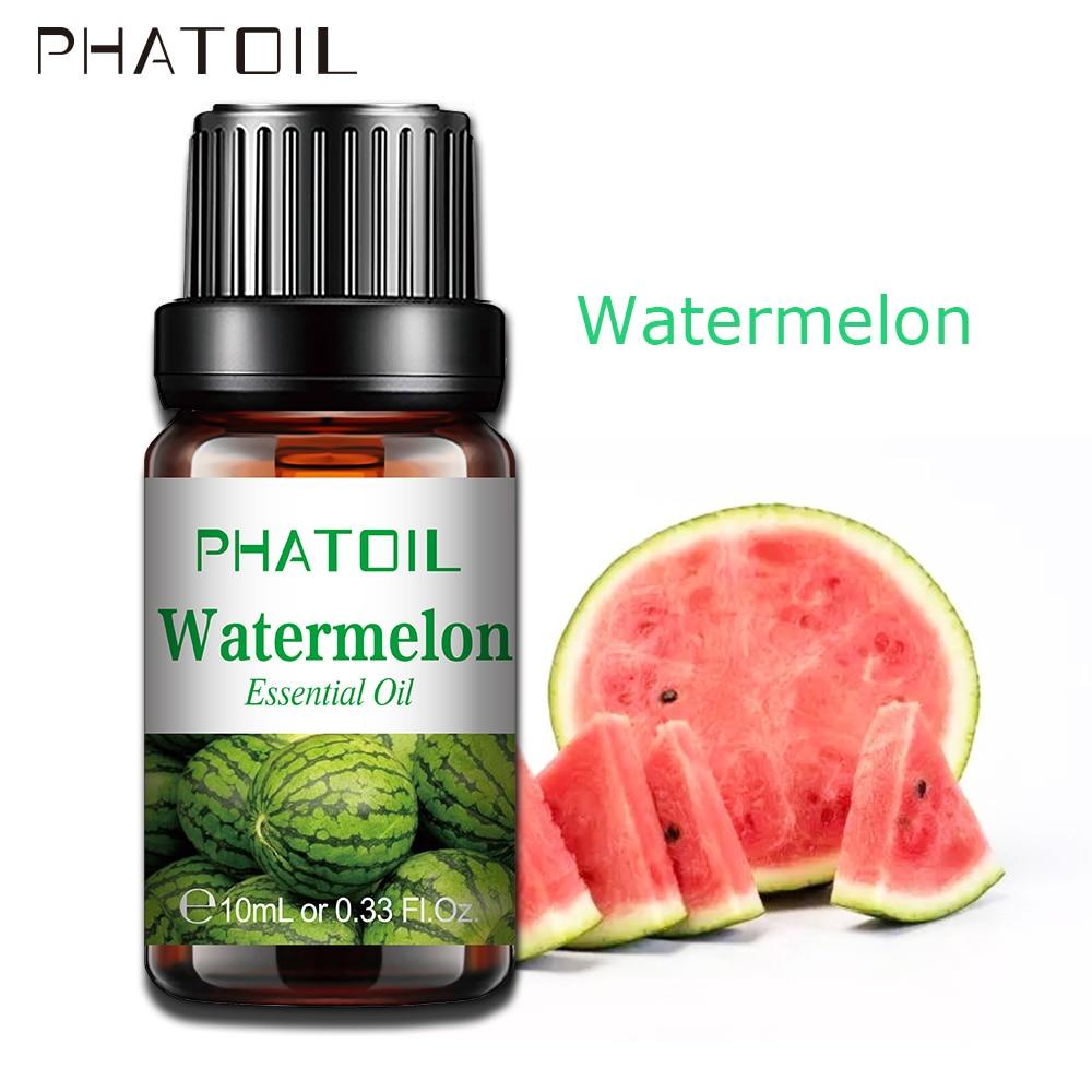 Phatoil melancia fruta fragrância óleo 10ml aroma difusor de óleo essencial cereja morango manga óleo de sabor de coco para lipgloss