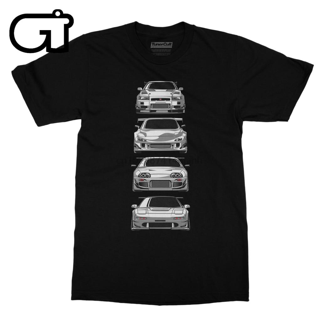 90 R34 Lendas Skyline GTR Skyline JDM Mazda Toyota NSX RX7 Tshirt