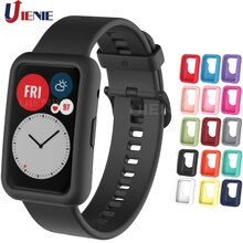 Silicone Protective Case for Huawei Watch Fit Cover Soft Screen Protector Shell Cases for Huawei Fit